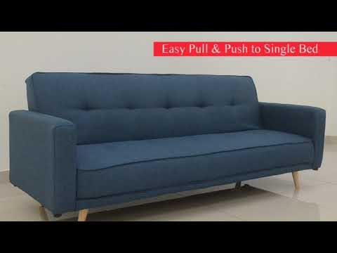 Perth Water Repellent Fabric 3 Seater Sofa Bed
