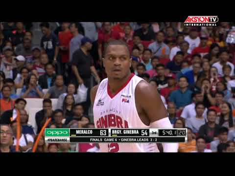 PBA HIGHLIGHTS: GINEBRA VS MERALCO OCT 25, 2017