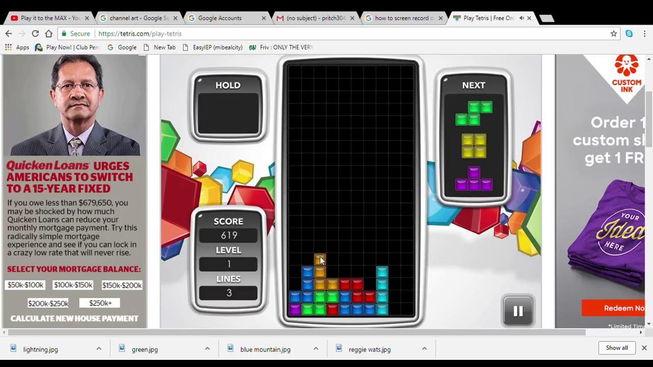 Play Tetris Free Online Game Tetris Google Chrome 4 14 2018 2 30 41 Pm Youtube