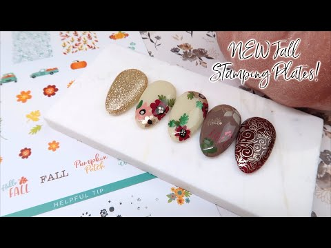 NEW Fall Nail Art | Clear Jelly Stamping Plates & Fall Floral Tutorial thumbnail