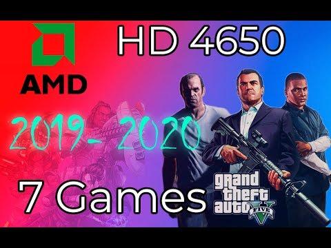 AMD HD 4650 In 7 Games  ( 2019-2020 )  (oglas)