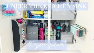 HOW TO ORGANIZE UNDER THE KITCHEN SINK CABINET   CLEAN AND ORGANISE WITH ME   MRS SMITH & CO.
