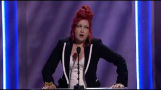 Grammy 2014 Screw Ups- Cyndi Lauper - Warning- Language