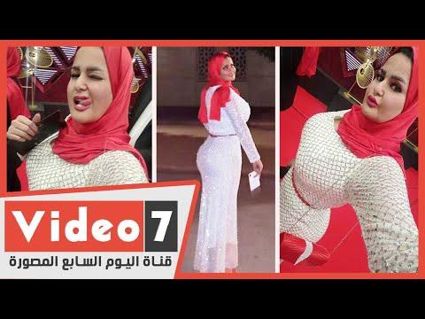سما المصري بالحجاب علي السجادة الحمراء في افتتاح مهرجان القاهرة  - 21:01-2019 / 11 / 20