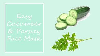 Cucumber & Parsley facial mask Thumbnail