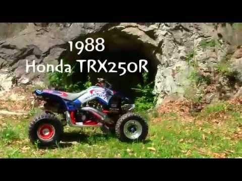 1989 HONDA TRX 250R READY TO RIP !! MARCH 23RD 2013 TREVORTON PA by