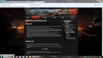 World of Tanks Tutorial: Download & Homepage (deutsch)