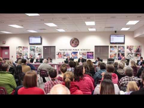 Vancouver School District Board Meeting - 1/24/17