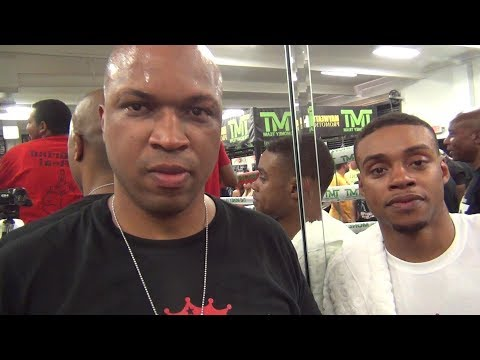 ERROL SPENCE RESPONDS TRAINER (DERRICK JAMES) RESPONDS TO TERENCE CRAWFORD'S TRAINER BRIAN MCINTYRE
