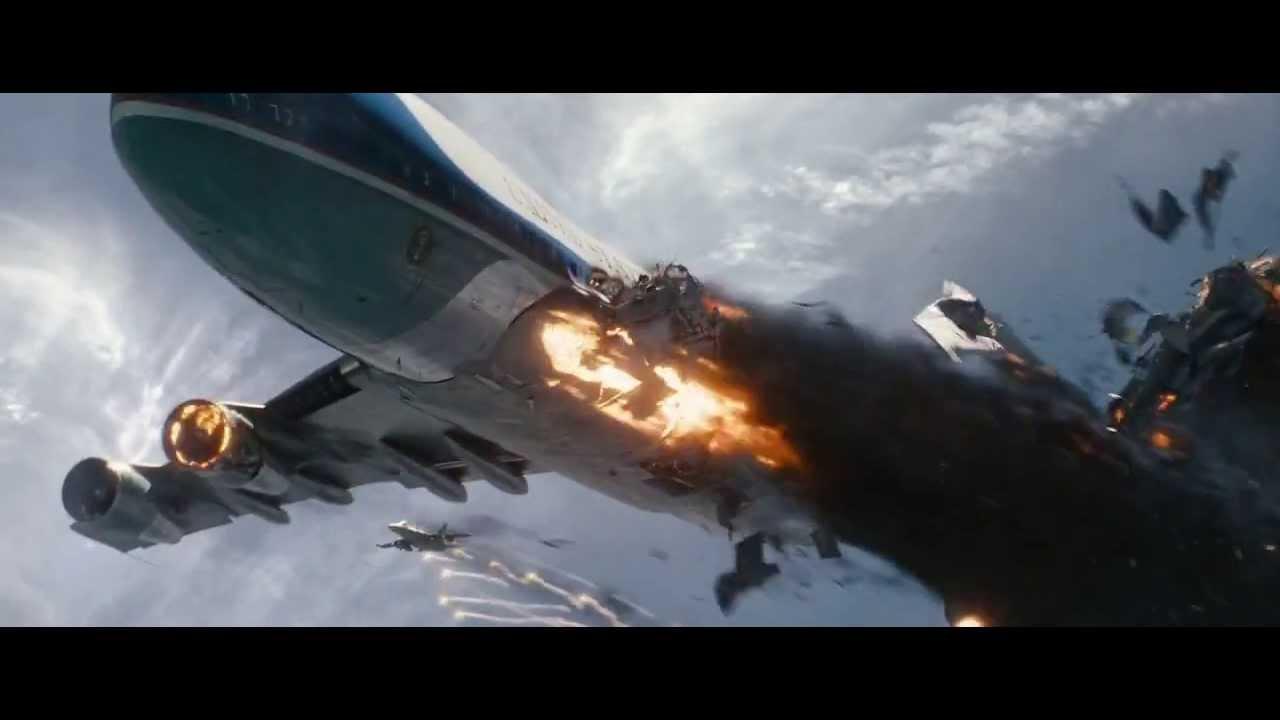 White House Down Whd Aeroplane Crash Scene Youtube