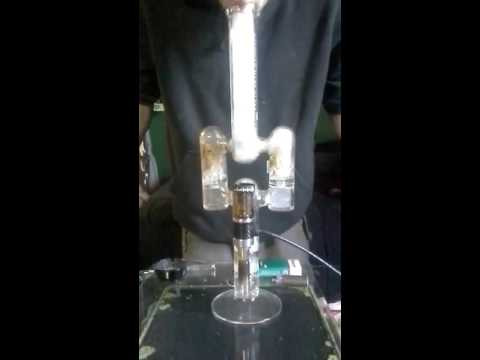 E nail dabs out of 4 foot tall a.m.g bong with 3 perks (american made glass)