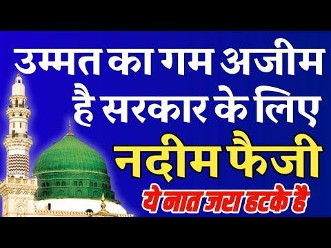 Ummat Ka Gam Azeem Hai Sarkar Ke Liye Nadeem Raza Faizi Naat