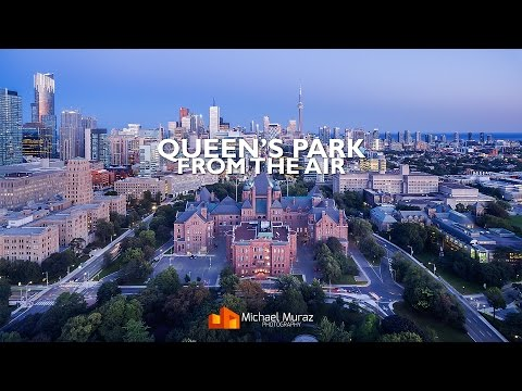 Queen's Park from the air: Toronto's skyline