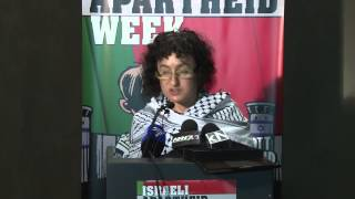 Daughter of anti-apartheid icon activist Dr Yusuf Dadoo at Israeli Apartheid Week 2015 launch