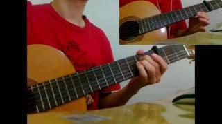 We Malo - Amr Diab guitar solo + chords عمرو دياب - وماله