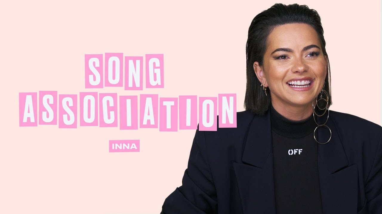INNA Sings Lady Gaga, JLo, and Pink in a Game of Song Association | ELLE