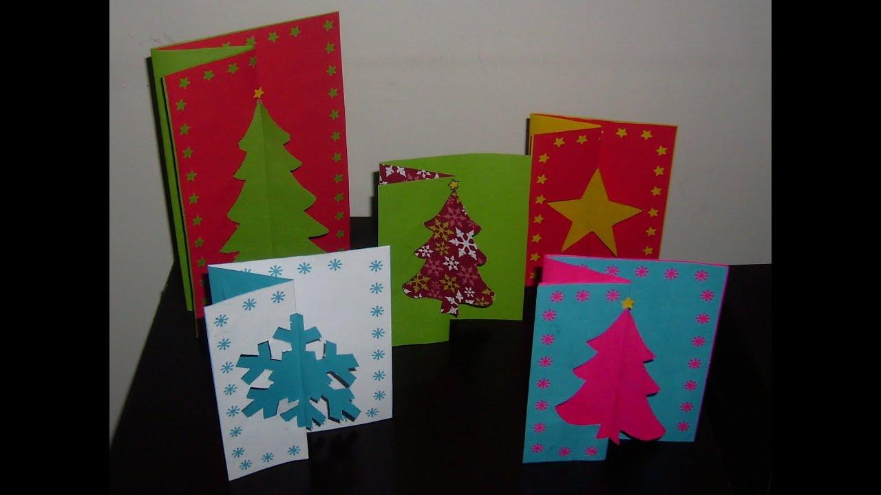 C mo hacer una tarjeta navide a original y bonita youtube - Como realizar tarjetas navidenas ...