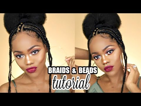HOW TO: AFRICAN FULANI-INSPIRED BRAIDS AND BEADS TUTORIAL ft IFY YVONNE