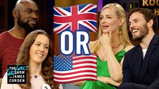 UK or USA? w/ Beth Behrs and Sam Claflin