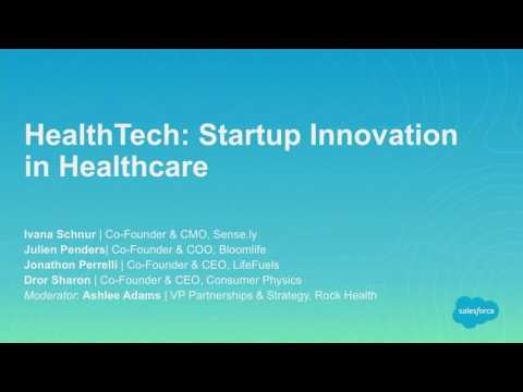 HealthTech:  Startup Innovation in Healthcare