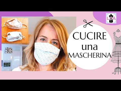mascherina antivirus fai da te di stoffa