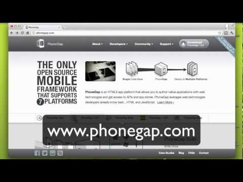 How to download PhoneGap and understand what is in there (Thai)