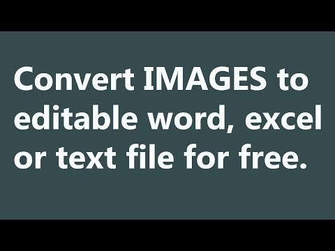 How To Convert Image To Word, Excel Or Text Without Software