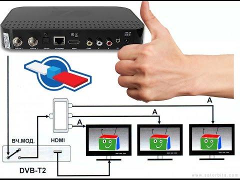 Как смотреть цифровое тв на двух телевизорах от одной приставки