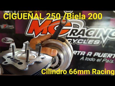CIGUEÑAL 250 Y CILINDRO 66mm Racing Para Un CG 4K Cobra.