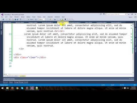 Building An ECommerce Store Using ASP.NET MVC Framework - Part 1 - Template