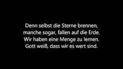 Jason Mraz - I won't give up Lyrics Deutsch