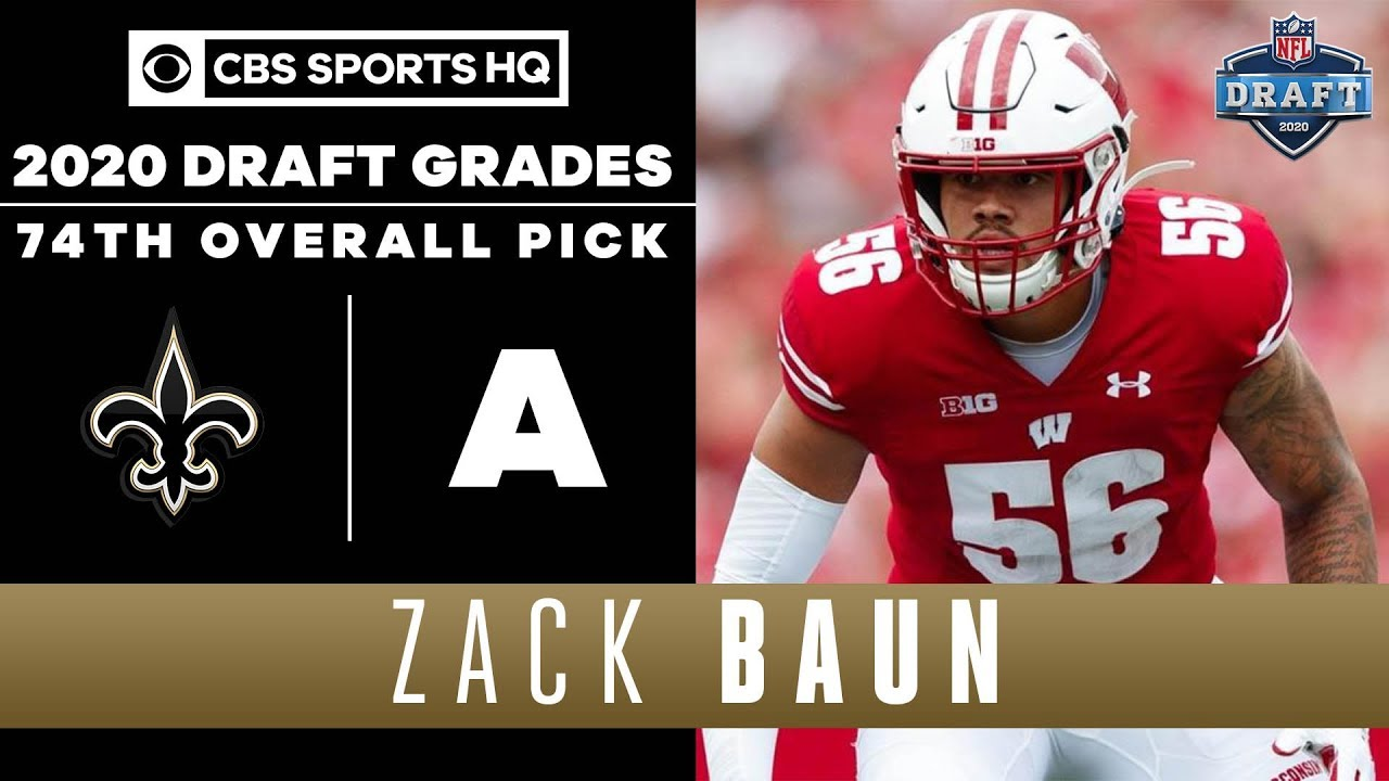 New Orleans Saints select Zack Baun with the 74th pick