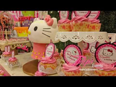 Creative Hello Kitty Vintage theme birthday party decor ideas in Pakistan