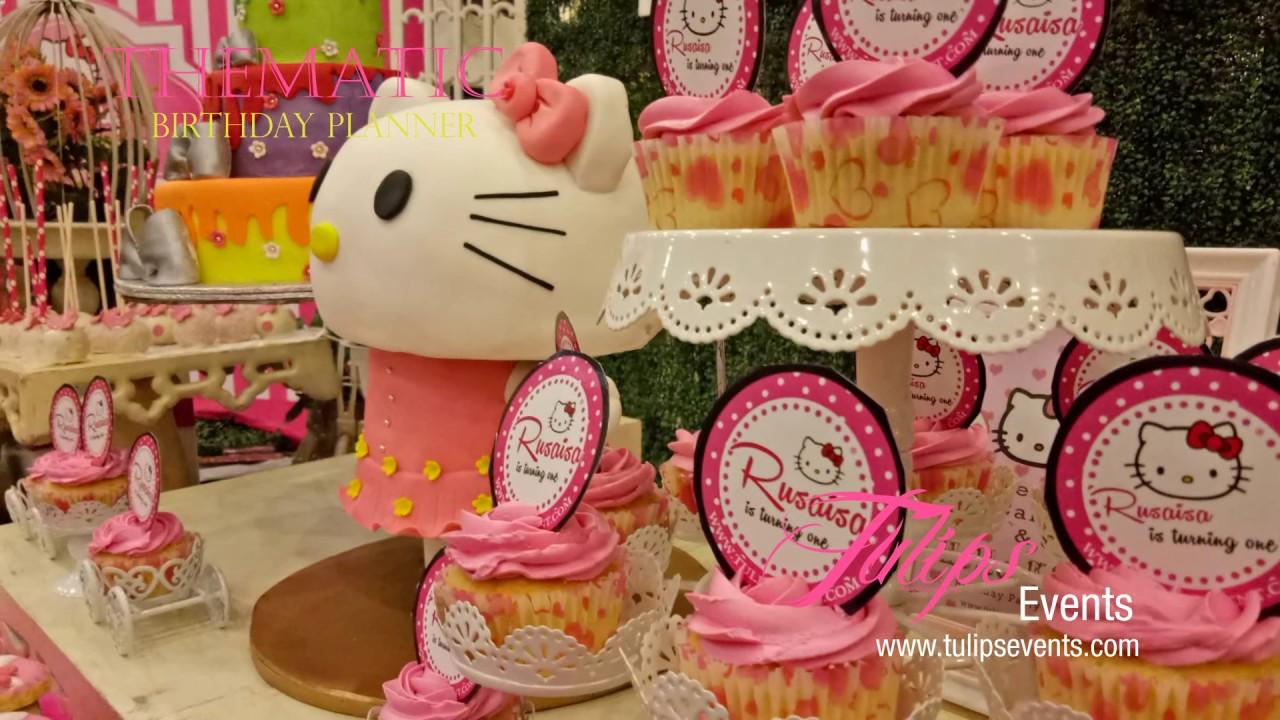 Creative Hello Kitty Vintage theme birthday party decor ideas in