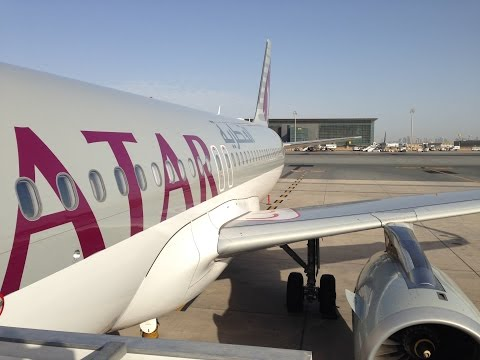 Qatar Airways A320 Budapest to Doha Flight QR200 - Economy