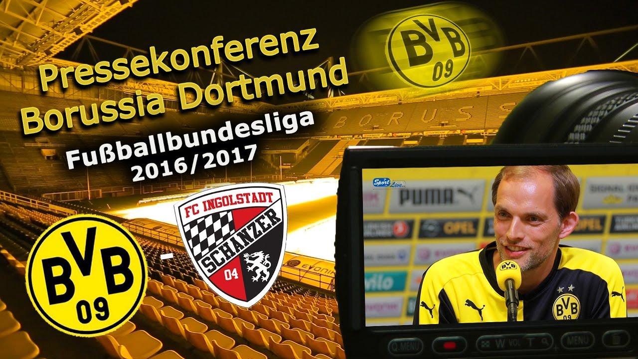 Borussia Dortmund - FC Ingolstadt: Pk mit Thomas Tuchel