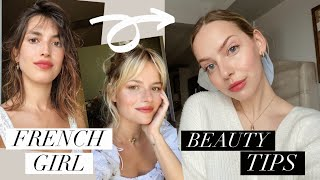 french girl beauty tips | makeup, skincare and hair