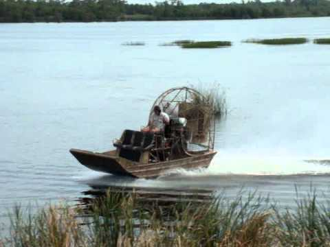 Stan Floyd of American Airboats water testing a 15x8 AirRanger