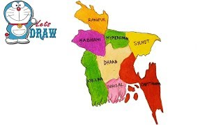 How to draw Bangladesh Map step by step