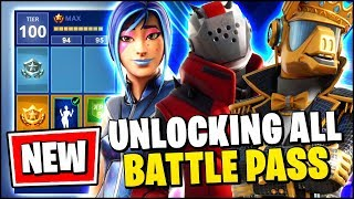 FORTNITE SEASON X BATTLE PASS UNLOCKED (ALL SKINS & COSMETICS FOR SEASON X)