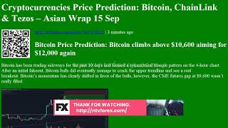 Cryptocurrencies Price Prediction: Bitcoin, ChainLink &amp