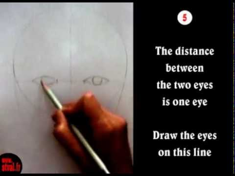 Tutorial 01 : HOW TO DRAW A FACE in 8 steps - Français - English