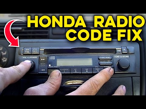 How to Get Honda Radio Serial Number, Code and How to Enter It