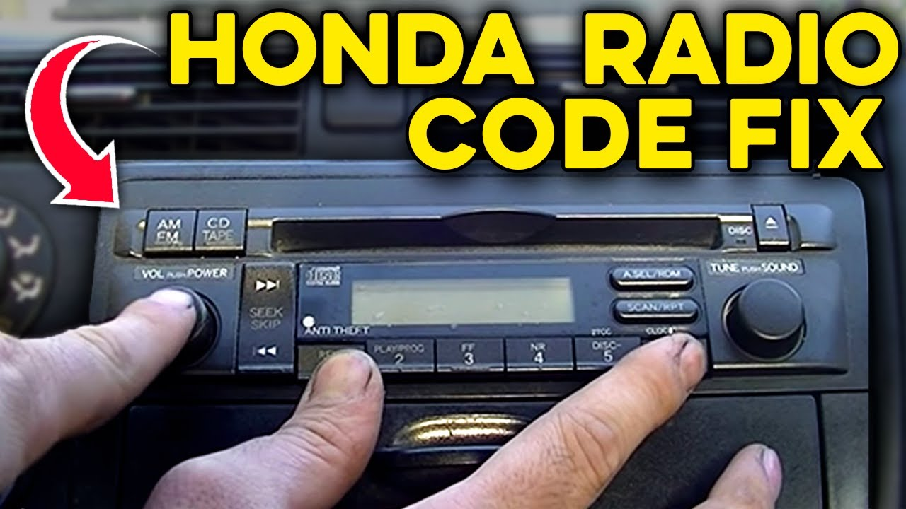 2003 honda civic lx radio code