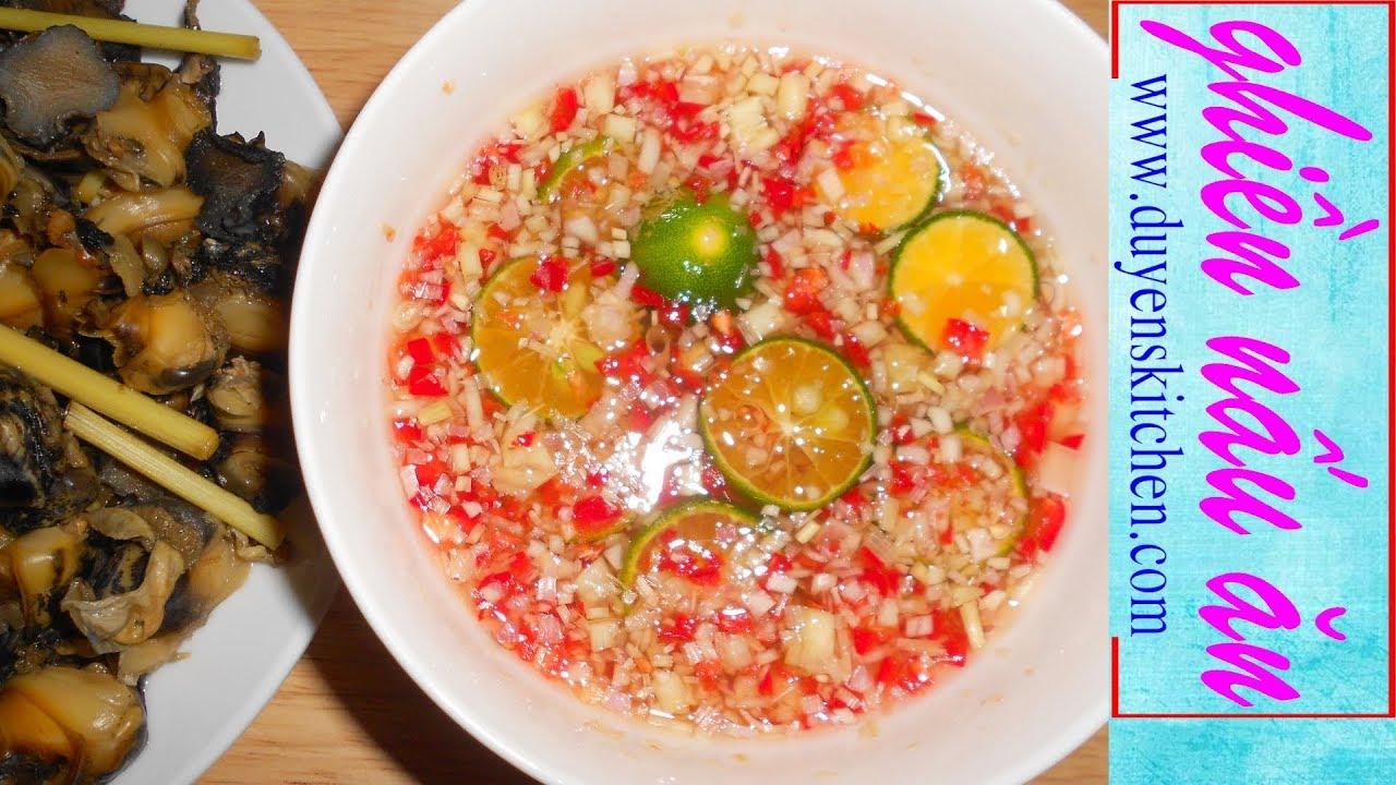 Cách Làm Nước Mắm Chấm Ốc Ngon Chuẩn Vị By Duyen's Kitchen | Ghiền Nấu Ăn