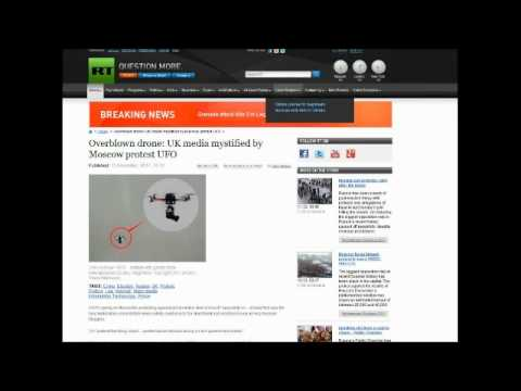 Unexplainable UFO Drone Seen Over Russia During Protest December 2011