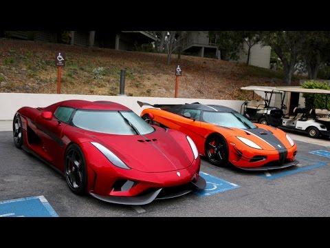 $30million dollar parking lot!(est) 8 bugatti's, 5 Pagani's, 2 Koenigsegg!!