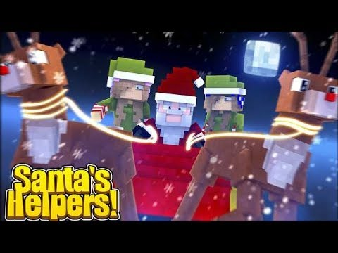 SAVING CHRISTMAS IN THE TOYSTORE! w/Little Carly and Little Kelly (Minecraft).
