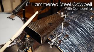 """MEINL Percussion - 8"""" Hammered Steel Cowbell - STB80BHH-S"""
