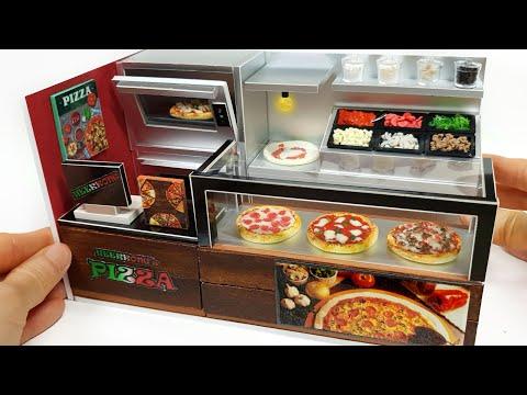 diy-miniature-realistic-shop---pizza-shop-decor-!-pizza-,-toppings-~